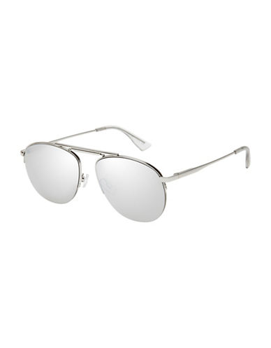 Le Specs Liberation 52mm Aviator Sunglasses-SILVER-One Size