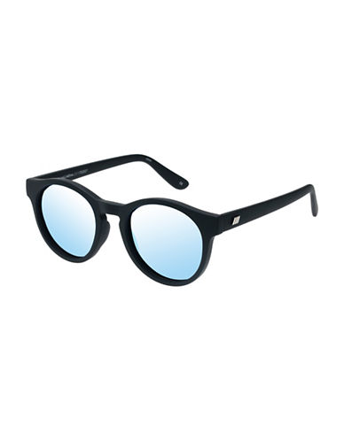 Le Specs Hey Macarena 51mm Round Sunglasses-BLACK-One Size