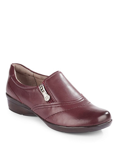 Naturalizer Clarissa Leather Shoes-RED-5.5