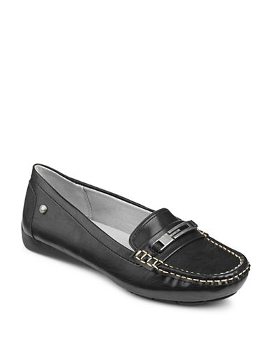 Lifestride Viva Memory Foam Loafers-BLACK-9W