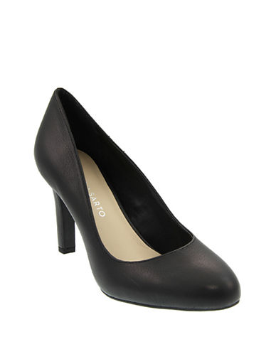 Franco Sarto Caspian Leather Pumps-BLACK-8