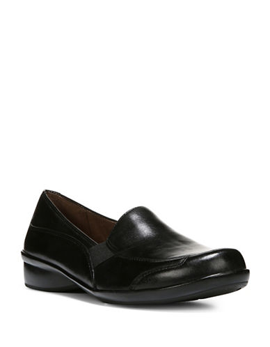 Naturalizer Carryon Leather Loafers-BLACK-11