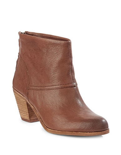 8ff471f65cd2f9 UPC 093636378322 product image for Sam Edelman Larkin Leather Booties-BROWN-5.5
