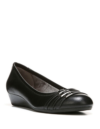 Lifestride Farrow Low Wedge Pumps-BLACK-7W