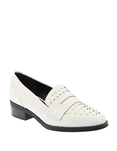 e7e8b5c87df48 ... UPC 093638419900 product image for Circus By Sam Edelman Lali Studded  Penny Loafers-WHITE-