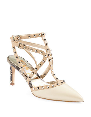 cc98cdbe8ba9 ... UPC 093639659091 product image for Sam Edelman Ocie Studded Printed  Leather Pumps-IVORY-8
