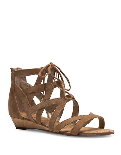 Sam Edelman Dawson Lace-Up Sandals-LIGHT BROWN-7.5