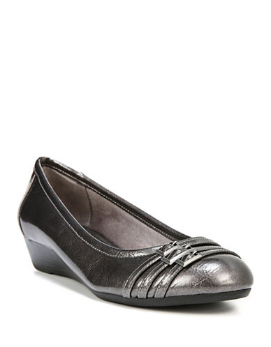 Lifestride Farrow Low Wedge Pumps-PEWTER-7.5