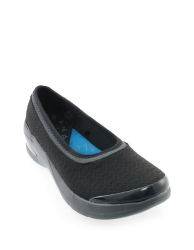 Bzees By Naturalizer Relax Ballerina Flats-BLACK-8