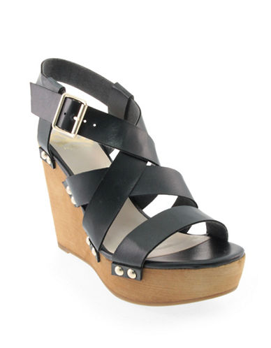 Fergalicious Libby Studded Wedge Sandals-BLACK-10