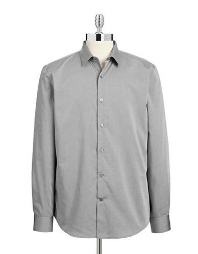 Perry Ellis Non-Iron Dress Shirt-GREY-XX-Large