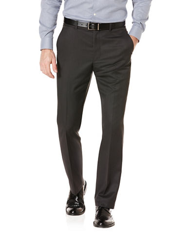Perry Ellis Stripe Pant-BLACK-38X32