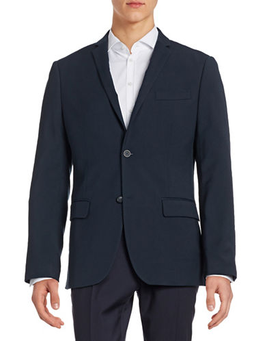 Perry Ellis Slim-Fit Travel Luxe Sports Jacket-NAVY-38