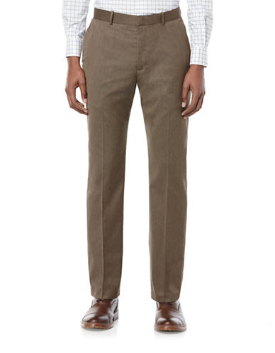 Perry Ellis Porftfolio Slim-Fit Solid Textured Pants-RAIN DRUM-32X32