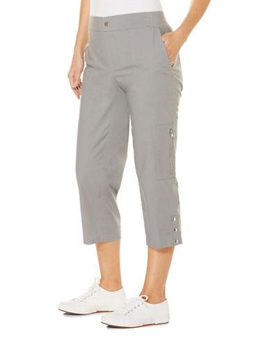 Rafaella Plus Pull-On Capri Pants-GREY-18W