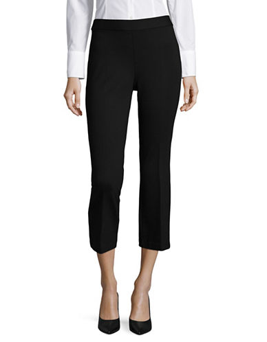 Lord & Taylor Ponte Demi-Bootcut Capris-BLACK-Small 89207466_BLACK_Small