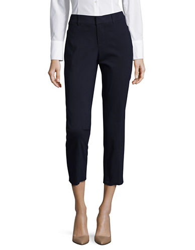 Lord & Taylor Power Stretch Kelly Fit Ankle Pants-NAVY-2