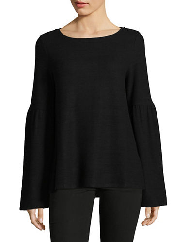 Lord & Taylor Bell Sleeve Tunic-BLACK-Medium