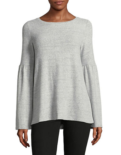 Lord & Taylor Bell Sleeve Tunic-LIGHT GREY-X-Large