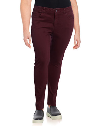 Rafaella Plus Weekend High-Rise Jeans-RED-18W