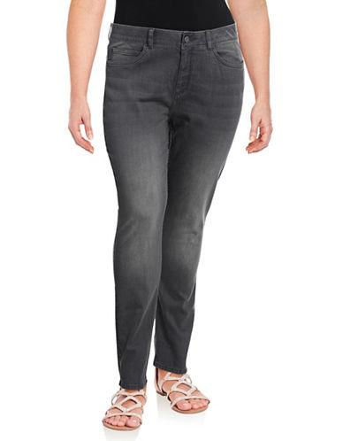 Rafaella Plus Skinny-Leg Jeans-GRANITE-20W