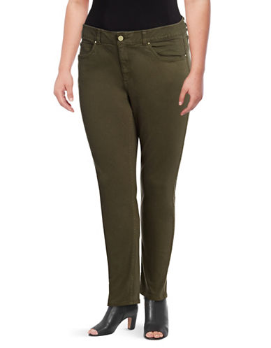 Rafaella Plus Weekend High-Rise Jeans-GREEN-18W