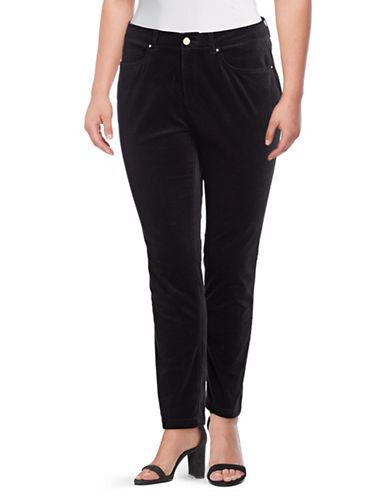 Rafaella Plus Velvet Skinny Comfort Waist Jeans-BLACK-16W