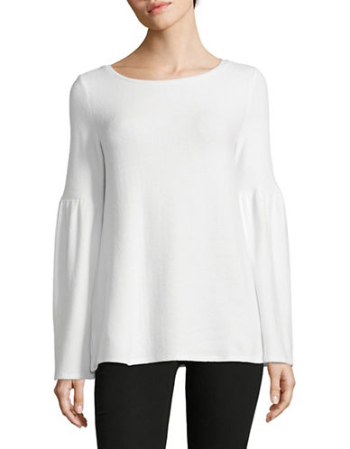 Lord & Taylor Bell Sleeve Tunic-WHITE-Medium