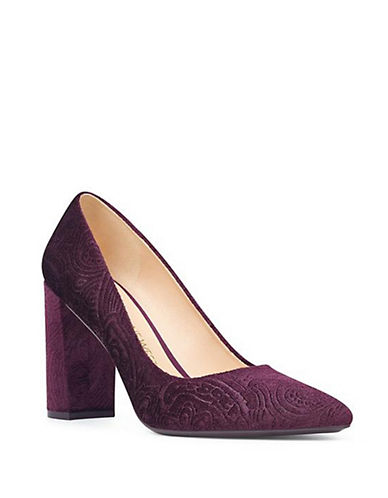 Nine West Astoria Suede Pumps-AUBERGINE-5.5