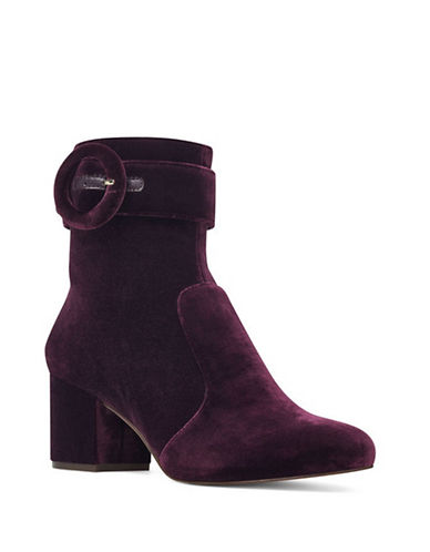 Nine West Quilby Velvet Booties-PURPLE-8.5