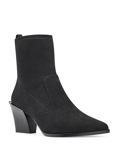 Nine West Eshella Booties-BLACK-7.5
