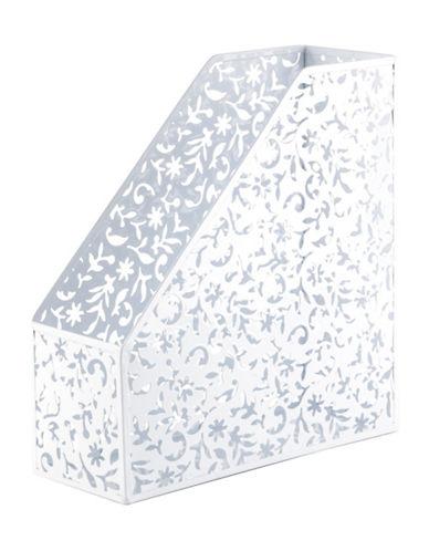Design Ideas Cut-Out Magazine File-WHITE-One Size
