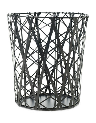 Design Ideas Tangle Wastecan-BLACK-One Size