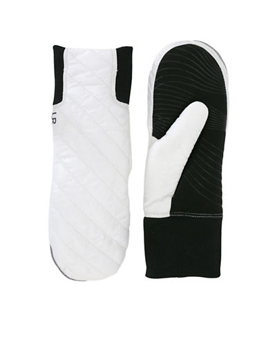 Ur Powered Quilted Tech Gloves-WHITE-L/XL