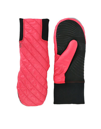 Ur Powered Quilted Tech Gloves-PINK-L/XL