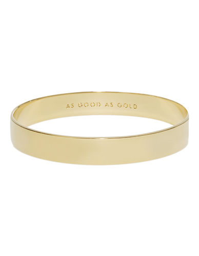 Kate Spade New York Idiom Bangles solid gold-GOLD-One Size