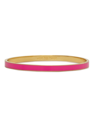 Kate Spade New York Idiom Bangles hot to trot - solid-PINK-One Size