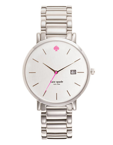Kate Spade New York Large Stainless Bracelet Gramercy Watch-SILVER-One Size