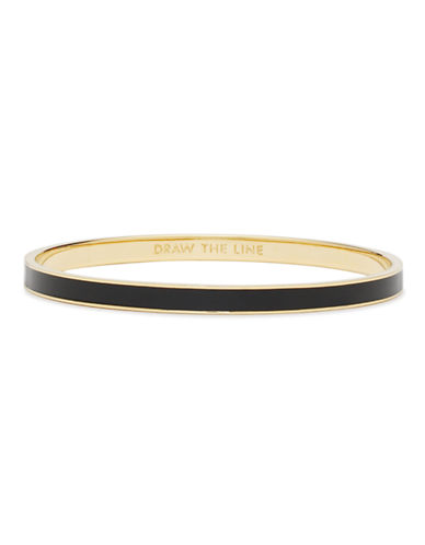 Kate Spade New York Idiom Bangles draw the line - solid-BLACK-One Size