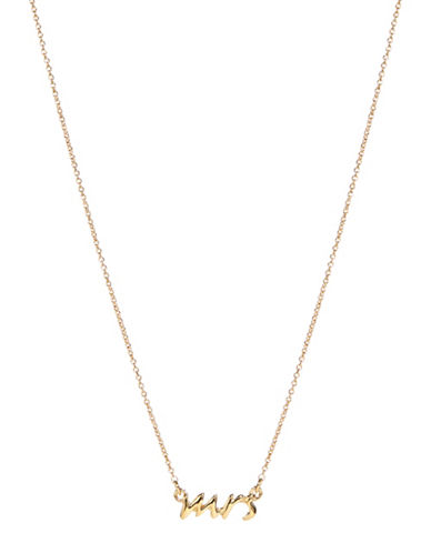 Kate Spade New York Say Yes Mrs Necklace-GOLD-One Size