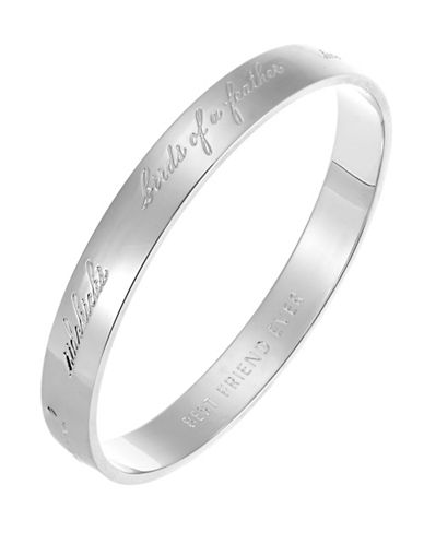 Kate Spade New York Idiom Bridesmaid Bangle-SILVER-One Size