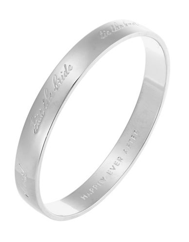 Kate Spade New York Idiom Bangles Bride Bangle Engraved-SILVER-One Size