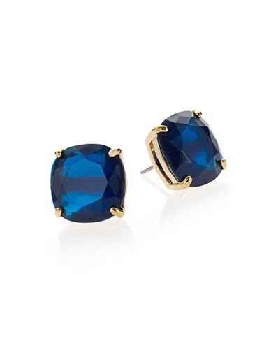 Kate Spade New York Small Square Stud Earrings-NAVY-One Size