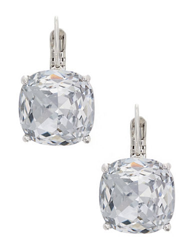 Kate Spade New York Kate Spade Earrings Small Square Leverbacks-SILVER-One Size