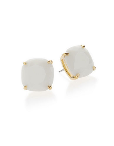 Kate Spade New York Small Square Stud Earrings-WHITE-One Size