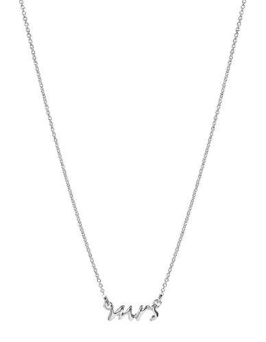 Kate Spade New York Say Yes Mrs Necklace-SILVER-One Size