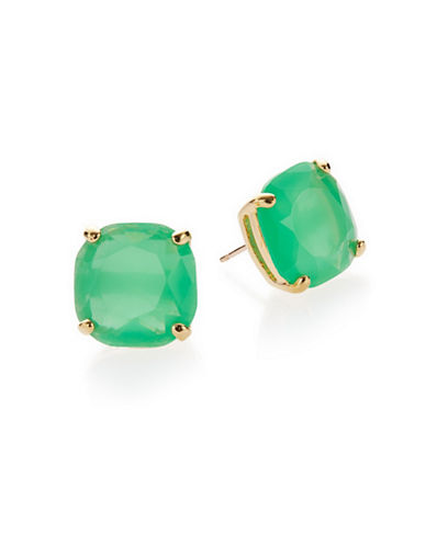 Kate Spade New York Small Square Stud Earrings-GREEN-One Size
