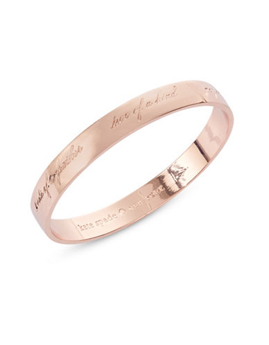 Kate Spade New York Bridesmaid 12K Rose Gold Bangle-ROSE GOLD-One Size