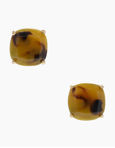 Kate Spade New York Small Square Stud Earrings-TORTOISE-One Size