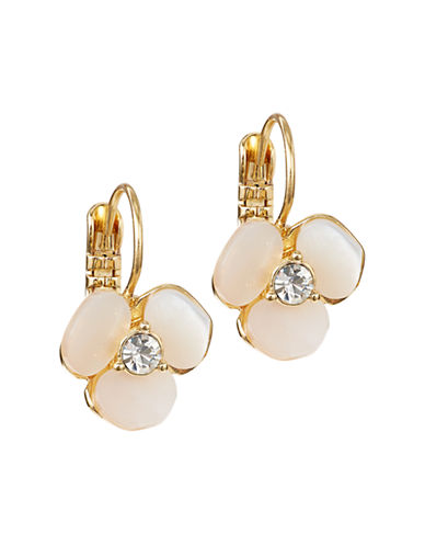 Kate Spade New York Disco Pansy Leverback Earrings-CREAM-One Size